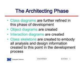 The Architecting Phase
