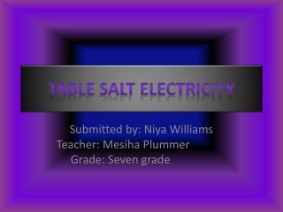 Table Salt Electricity