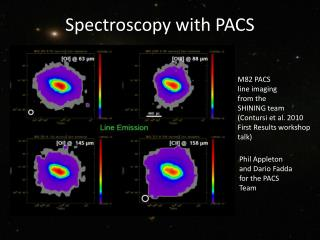 Spectroscopy with PACS