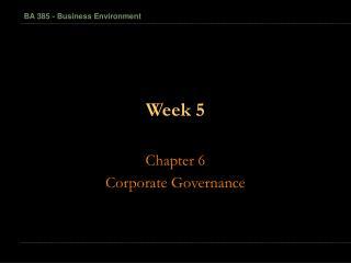1-1 BA 385 - Business Environment