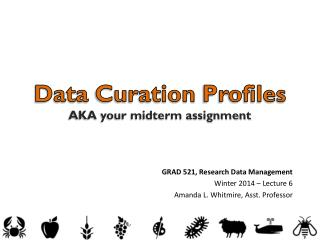 Data  Curation  Profiles AKA your midterm assignment