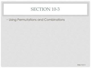 Section 10-3