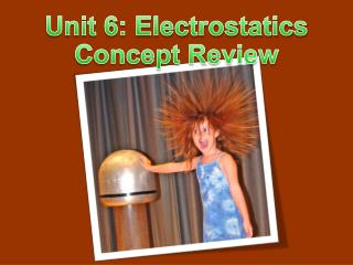 Unit 6: Electrostatics Concept Review
