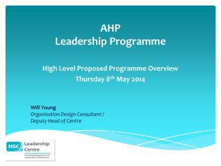 AHP Leadership Programme