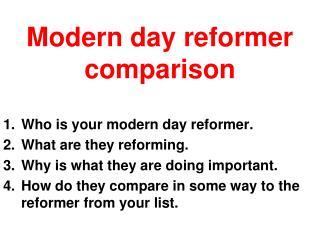 Modern day reformer comparison