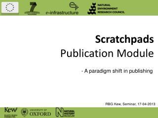 Scratchpads Publication Module