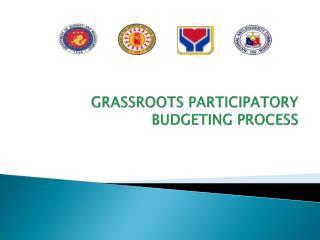 GRASSROOTS PARTICIPATORY BUDGETING PROCESS