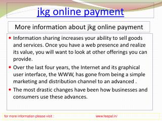 The best guide for jkg online payment