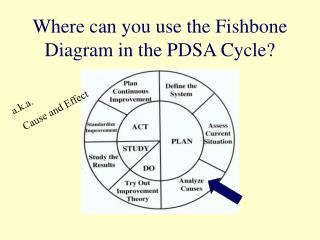 Where can you use the Fishbone Diagram in the PDSA Cycle