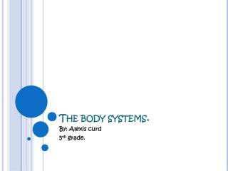The body systems.