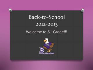 Back-to-School 2012-2013