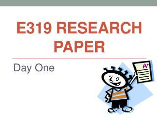 E319 Research paper