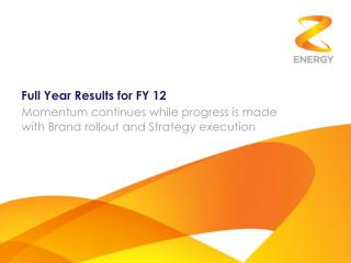 Full Year Results for FY 12