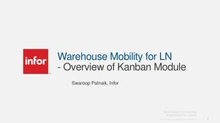 Warehouse Mobility for LN  - Overview of Kanban Module