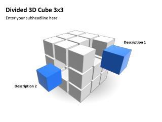 Divided 3D Cube 3x3