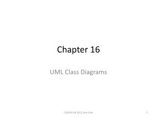 UML: Class diagrams