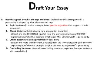 D raft Your Essay