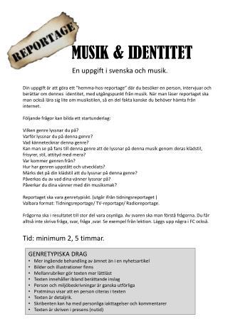 MUSIK & IDENTITET