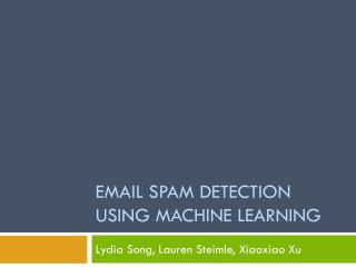 Email Spam Detection using machine Learning