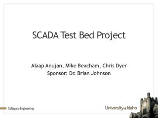 SCADA Test Bed Project