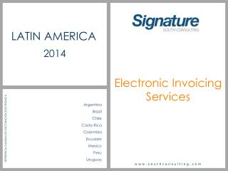 Electronic Invoicing S ervices