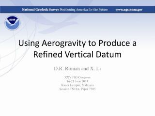 Using Aerogravity to Produce a Refined Vertical Datum