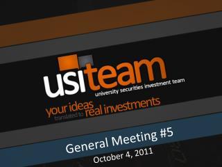 General Meeting #5