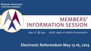Members' information session
