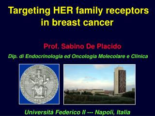 Targeting HER family receptors in breast cancer