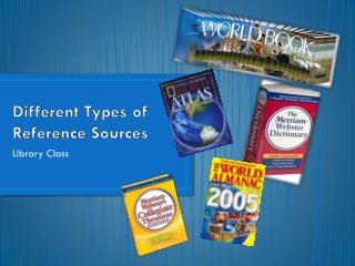 Different Types of Reference Sources