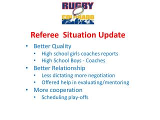 Referee   Situation Update