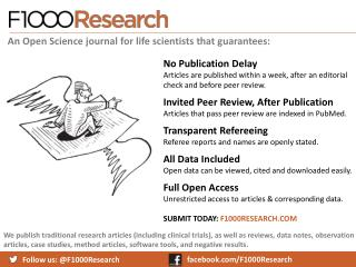 Follow us: @F1000Research