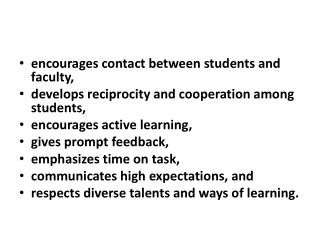 encourages contact between students and faculty,