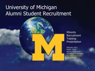 University of Michigan Alumni Student Recruitment