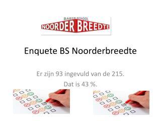 Enquete  BS Noorderbreedte