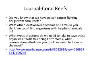 Journal-Coral Reefs