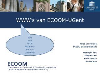 WWW�s  van ECOOM-UGent