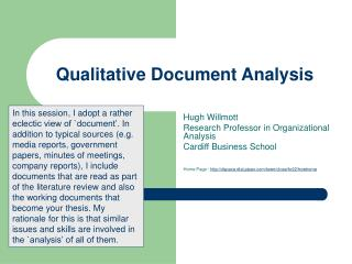 Qualitative Document Analysis