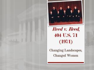Reed v. Reed , 404 U.S. 71 (1971)