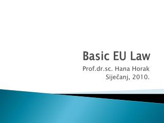 Basic EU Law