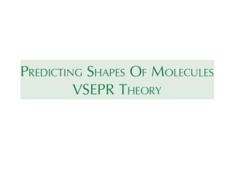The Fundamental Principles of VSEPR Theory
