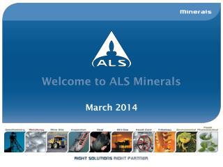 Welcome to ALS Minerals