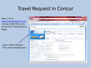 Travel Request in Concur