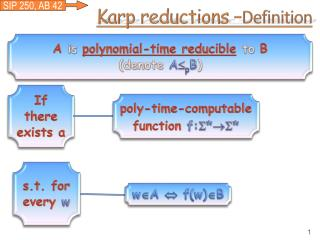 Karp reductions – Definition