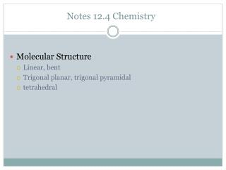 Notes 12.4 Chemistry