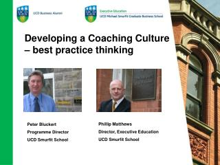 Developing a Coaching Culture   best practice thinking