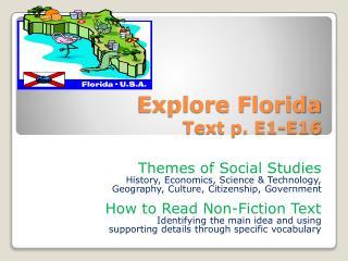 Explore Florida Text p. E1-E16