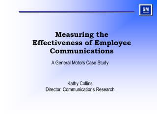 Measuring the Effectiveness of Employee Communications