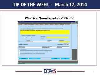 TIP OF THE WEEK  -  March 17, 2014