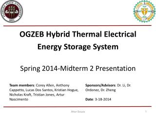 OGZEB Hybrid Thermal Electrical  Energy Storage System Spring 2014-Midterm 2 Presentation